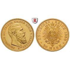 Deutsches Kaiserreich, Preussen, Friedrich III., 20 Mark 1888, A, PP, J. 248: Friedrich III. 1888. 20 Mark 1888 A. J. 248; GOLD,… #coins