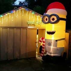 Best Christmas inflatable ever. Minion Inflatable, Christmas Inflatables, Christmas Fun, Holiday, 5th Birthday, Minions, Fictional Characters, Art, Art Background
