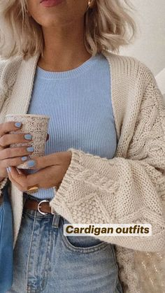 Cute Casual Outfits, Look Casual, Simple Fall Outfits, Outfits Winter, Cardigan Outfits, Everyday Outfits, Autumn Winter Fashion, Dress To Impress, Fashion Outfits