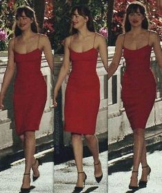 red sheath prom dress – classygown You are in the right place about REd dress flowy Here we offer you the most beautiful pictures about the REd Estilo Dakota Johnson, Dakota Johnson Style, Dakota Johnson Hair, Dress Outfits, Fashion Dresses, Cute Outfits, Red Dress Outfit, Red Slip Dress, Cute Dresses For Party