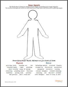 Anger Signals Worksheet Download
