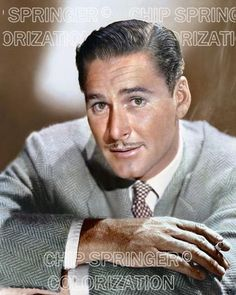 ERROL FLYNN PORTRAIT SMOKING IN GREY COAT COLOR PHOTO BY CHIP SPRINGER. Featured Ebay Listing. Please visit my Ebay Store, Legends of the Silver Screen, at http://legendsofthesilverscreen.com to see the current listings of your favorite Stars now in glorious color! Thanks for looking and check out my Youtube videos at https://www.youtube.com/channel/UCyX926rA5x4seARq5WC8_0w