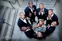 I like this pic idea, bride with grooms men