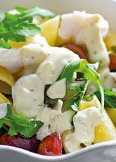 Salada de peixe com massa