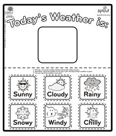 make as a set of magnets to help teach kids about weather chica weather report coloring page the sunny side up show coloring pages for kids