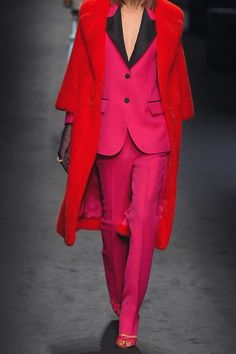 Gucci - Wool And Silk-blend Crepe Straight-leg Pants - Fuchsia - IT38