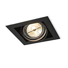 Einbaustrahler oneon 111 2 schwarz einbaustrahler wohnzimmerbeleuchtung innenbeleuchtung - Dubbele wastafel leroy merlin ...