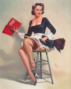 Fritz Clough French Maid pin-up Pin Up Vintage, Photo Vintage, Vintage Graphic, Retro Vintage, Rolf Armstrong, Gil Elvgren, Norman Rockwell, Pin Up Girls, Pin Up Pictures