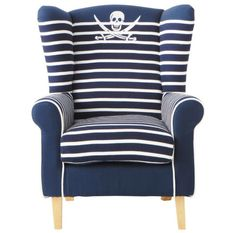 Pirate Navy Blue Armchair for Your Blue and White Living room