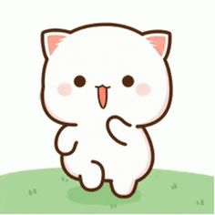 Cute Anime Cat, Cute Bunny Cartoon, Emoji Images, Cute Cartoon Pictures, Cute Love Cartoons, Cute Cat Gif, Cute Images, Kawaii Anime, Cute Bear Drawings