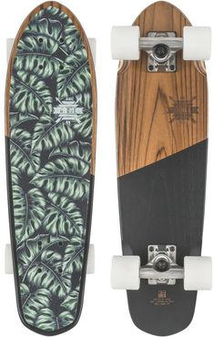 Globe Blazer Cruiser Skateboard Teak/Monstera X Skateboard Deck Art, Penny Skateboard, Skateboard Design, Skateboard Girl, Cruiser Skateboards, Bmx, Long Skate, Cruiser Boards, Skater Girls