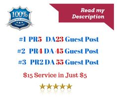 I will do 3 Guest Posts on my 3 high PR high da Blog High PR Backlinks Backlink for your money website join me