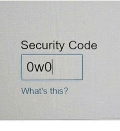 Security Code OwO What's this? from Facebook tagged as Dank Meme