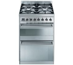Buy SMEG Symphony SY62MX8 Dual Fuel Cooker - Stainless Steel | Free Delivery | Currys