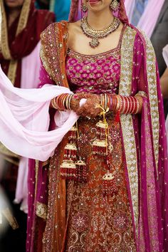 love these colours for a wedding lehenga