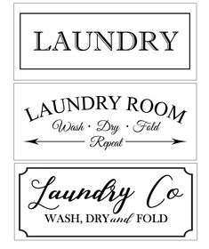 Laundry, Wash, Dry, Fold Vinyl Stencil by Homeworks Etc DIY – Homeworks Etc ® Laundry Room Doors, Laundry Room Remodel, Laundry Decor, Laundry Room Signs, Sign Stencils, Stencil Diy, Diy Signs, Wood Signs, Laundry Quotes