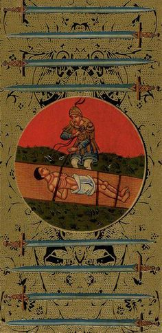 Eight of Swords - Golden Tarot of the Tsar by Atanas Alexandrov Atanassov