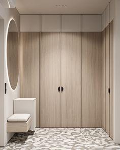 Hall Interior, Apartment Interior Design, Interior Walls, Wardrobe Design, Built In Wardrobe, Foyer Design, Modern Minimalist, Interior Architecture, Behance