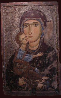 Virgin Mary Glykofilousa (of the Tenderness) About second half 13th century Archangel Michael, Anogyra Byzantine Museum of Pafos (Cypr)