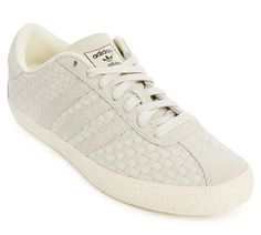 new style ad8c8 50357 Love this  Gazelle 70S White Weave Sneakers  Lyst Adidas Sneakers, Adidas  Men,