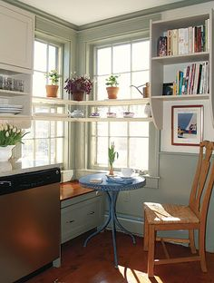 Wouldnu0027t This Idea Of Open Shelving Over A Window Be A Perfect Place For  Growing Herbs? | Home Again | Pinterest | Growing Herbs, Open Shelving And  Perfect ...