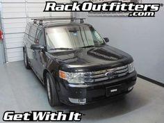 Ford Flex Thule Rapid Traverse BLACK AeroBlade Base Roof Rack '08-'14*