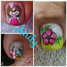 Muñeca Manicure And Pedicure, Toe Nails, Iris, Nail Designs, Nail Art, Beauty, Makeup, Toenails, Nail Art Designs