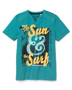 GUESS Kids Boys' Turquoise Tee - Love the summery vibe!