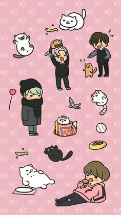 bts x neko atsume like theY WERE CUTE ENOUGH HOW COULD YOU SPLIT ME