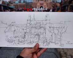 at #rijksmuseum #livesketch ... just lines for that moment... so cold windy, i can't stand for coloring😁😰 #urbansketchers #sketchwalker #travelsketch