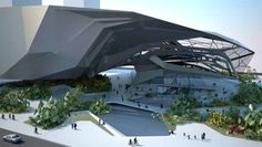 Shenzhen Museum of Contemporary Art, China – Architecture by EMERGENT: Tom Wiscombe From solid to transparent. China Architecture, Museum Architecture, Futuristic Architecture, Amazing Architecture, Architecture Design, Zaha Hadid Architecture, Architecture Office, Shenzhen, Amazing Buildings