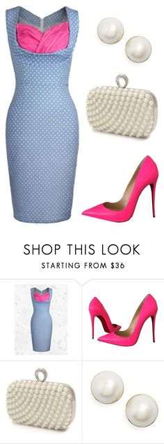 """1st Date"" by sassyladies ❤ liked on Polyvore featuring Christian Louboutin, Mascara and Kate Spade"