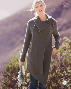 Asymmetrical Boiled Wool Coat- Garnet Hill