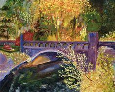 Bridge, 16x20 in, oil on canvas, by Leona Bushman