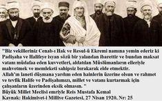 Hiçbirşeyim: Vahdettin'in huzurunda Kuran'a el basarak yemin ed. Twitter, Ecards, Islam, History, Abd, Truths, Landing Pages, History Books, Historia