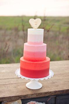 Ombre cake: http://www.stylemepretty.com/2015/02/13/modern-heart-themed-san-francisco-wedding/