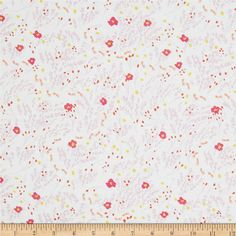 Michael Miller Wee Wander Meandering Petal from @fabricdotcom  Designed by Sarah Jane for Michael Miller, this cotton print is perfect for quilting, apparel and home decor accents.  Colors include white, pink, yellow, lavender and peach.