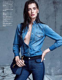 Marizanne Visser Wears 'Denim Couture' By Koray Parlak For Elle Turkey May 2015