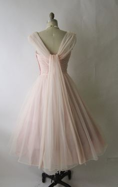 50's Chiffon Dress -. I can't breathe, this is so perfect.