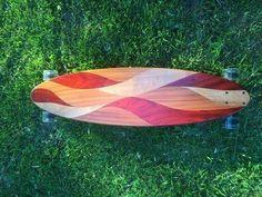 vesuvius hardwood longboard skateboard complete solid wood