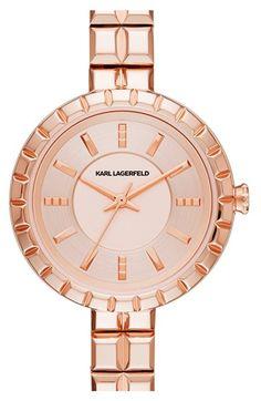 Karl Lagerfeld 'Geometrik' Bracelet Watch, 34mm