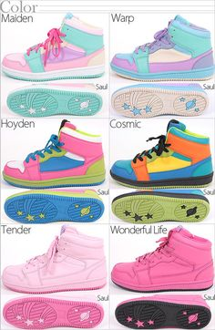frillypinkdreams:  cadney:  azurebubbles:  Fairy Kei shoes :)  AAAAAAAAAA.. where do you buy these ;___;   I want the light pink ones ;_; they would go with everything!