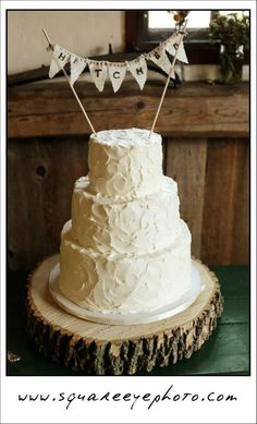 Rustic Wedding Cake in Santa Barbara's Wine Country - Decadence Wedding Cakes  http://www.cateringconnect.com