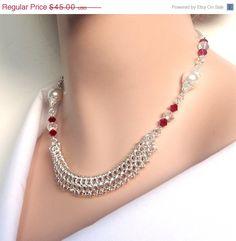 SUMMER SALE 25 OFF Chainmaille necklace European 4 por NezDesigns, $33.75