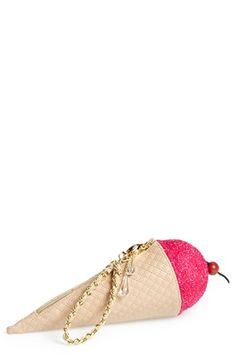 Betsey Johnson 'Ice Cream' Clutch | Nordstrom, $68.00 // ice cream clutch! ICE CREAM CLUTCH!