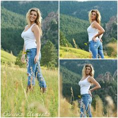 Boulder, Colorado photo shoot. Natural country look.