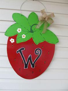 strawberry door hanger