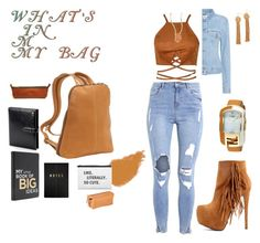 """""""What's in my bag?"""" by agnesmakoni ❤ liked on Polyvore featuring Le Donne, Acne Studios, kikki.K, Aspinal of London, Beauty Is Life, Clava, Fendi, Chan Luu and Vanessa Mooney"""