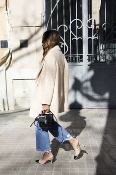 Coat.bag.shoes.denim