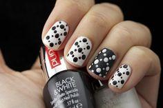 Black&white #nailart @trendynail
